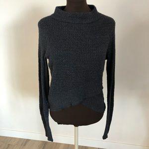 FREE PEOPLE | Faux Wrap Turtleneck Sweater